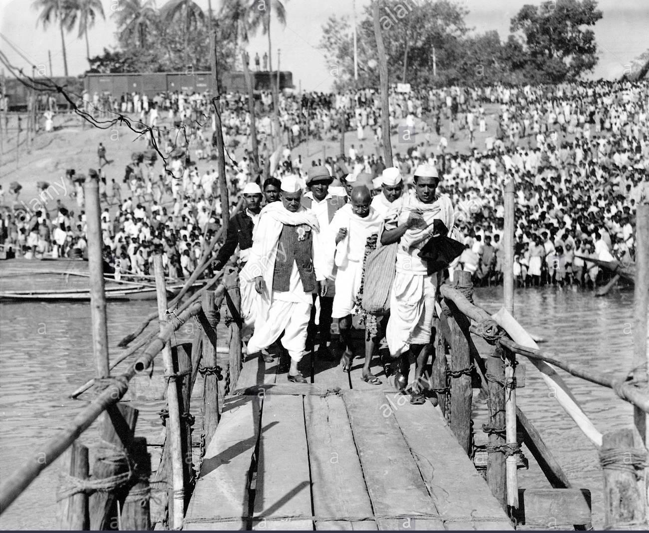 Mahatma Gandhi visiting Assam