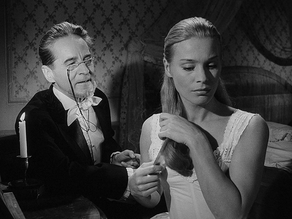 A Scene from The Magician, starring Ingrid Thulin and Gunnar Björnstrand